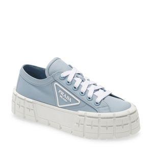 Prada Lug-Sole Platform Sneakers In Blue